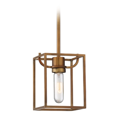 Designers Fountain Lighting Designers Fountain Uptown Old Satin Brass Mini-Pendant Light 88430-OSB