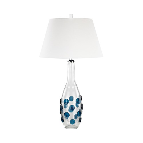 Dimond Lighting Dimond Confiserie Clear and Blue Table Lamp with Empire Shade D3163