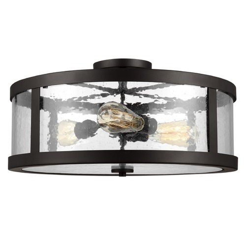 Feiss Lighting Feiss Lighting Harrow Oil Rubbed Bronze Semi-Flushmount Light SF342ORB