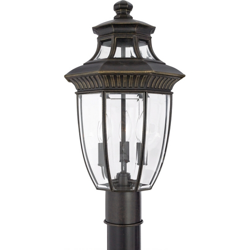 Quoizel Lighting Post Light with Clear Glass in Imperial Bronze Finish GT9294IB