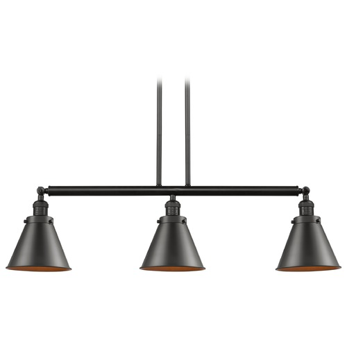 Innovations Lighting Innovations Lighting Appalachian Oil Rubbed Bronze Island Light with Conical Shade 213-OB-S-M13-OB