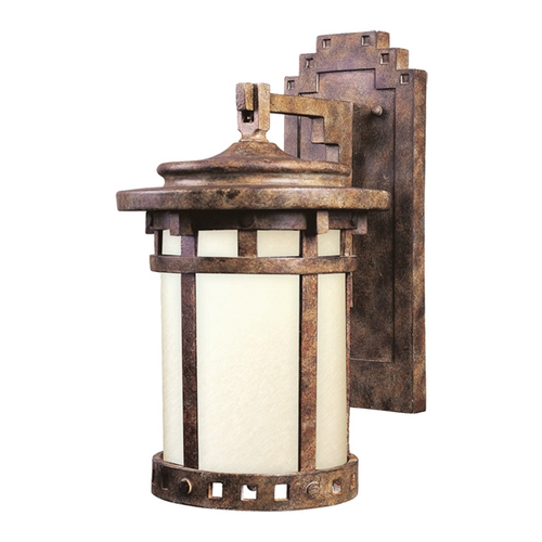 Maxim Lighting Outdoor Wall Light with Beige / Cream Glass in Sienna Finish 3144MOSE