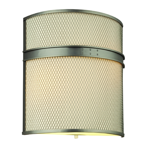 Philips Lighting Modern Bathroom Light with Beige / Cream Shades in Gun Metal Finish F197516U