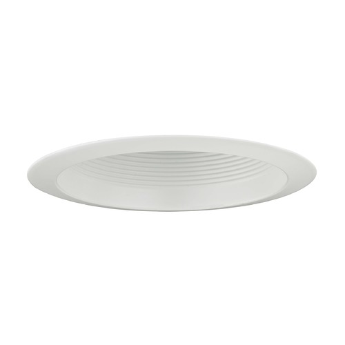 Recesso Lighting by Dolan Designs White Baffle PAR30 Shower Trim for 6-Inch Recessed Housings T606W-WH