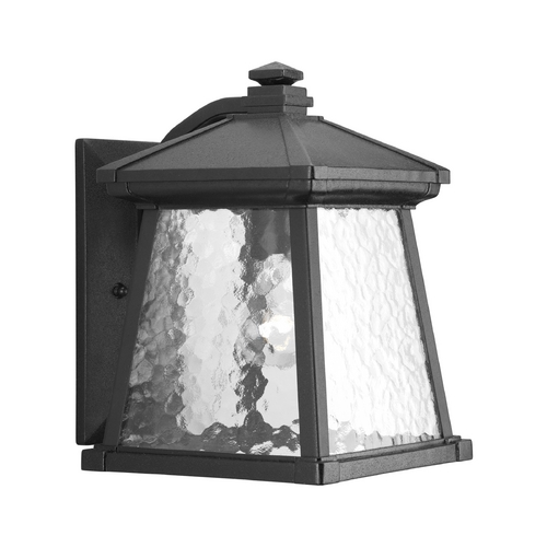 Progress Lighting Progress Outdoor Wall Light with Clear Glass in Black Finish P5907-31