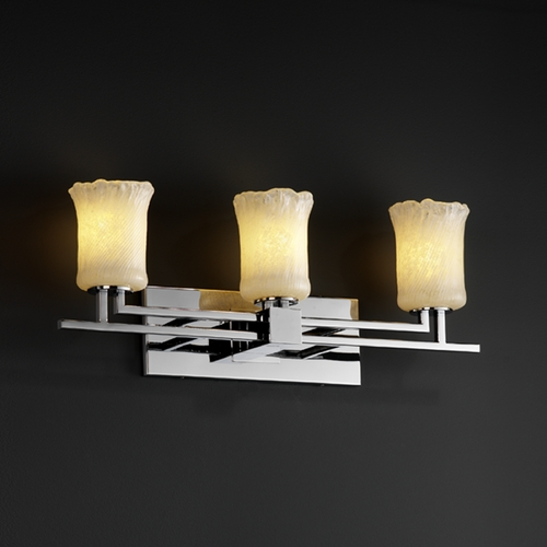 Justice Design Group Justice Design Group Veneto Luce Collection Bathroom Light GLA-8703-16-WHTW-CROM