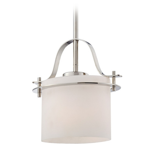 Nuvo Lighting Mini-Pendant Light with White Glass 60/5105