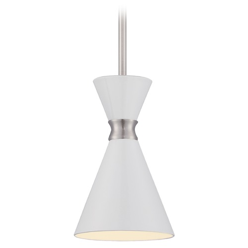 George Kovacs Lighting George Kovacs Conic Brushed Nickel Mini-Pendant Light with Conical Shade P1821-44F
