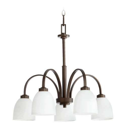 Quorum Lighting Quorum Lighting Reyes Oiled Bronze Chandelier 6360-5-86