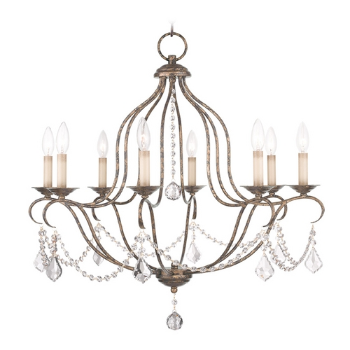 Livex Lighting Livex Lighting Chesterfield Venetian Golden Bronze Crystal Chandelier 6427-71