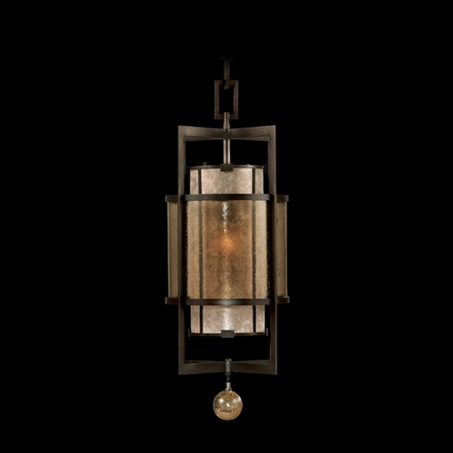 Fine Art Lamps Fine Art Lamps Singapore Moderne Brown Patinated Bronze Pendant Light with Cylindrical Shade 590040ST