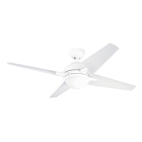 Kichler Lighting Kichler Lighting Sunburst LED Ceiling Fan with Light 300170WH
