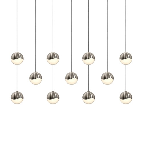 Sonneman Lighting Sonneman Grapes Satin Nickel 11 Light LED Multi-Light Pendant   2922.13-SML