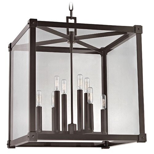 Hudson Valley Lighting Forsyth 8 Light Pendant Light Square Shade - Old Bronze 8620-OB