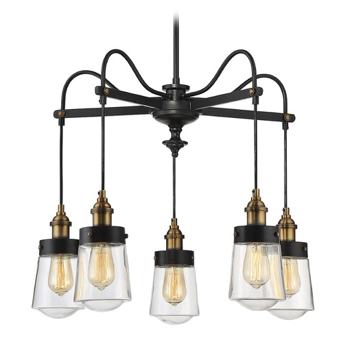 Savoy House Savoy House Lighting Macauley Vintage Black with Warm Brass Chandelier 1-2060-5-51