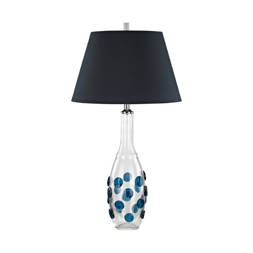 Dimond Lighting Dimond Confiserie Clear and Blue Table Lamp with Empire Shade D3164