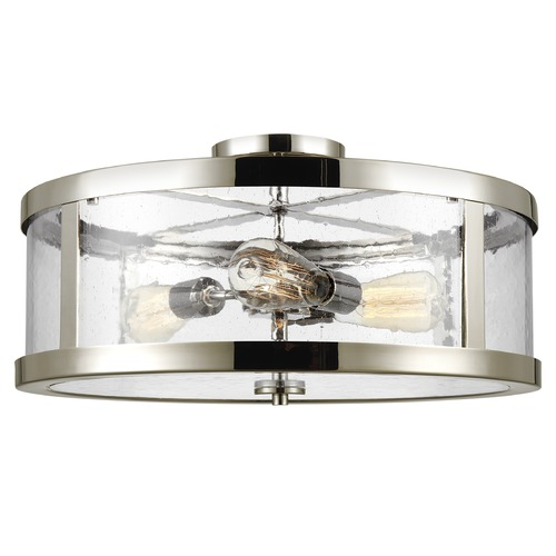 Feiss Lighting Feiss Lighting Harrow Polished Nickel Semi-Flushmount Light SF342PN
