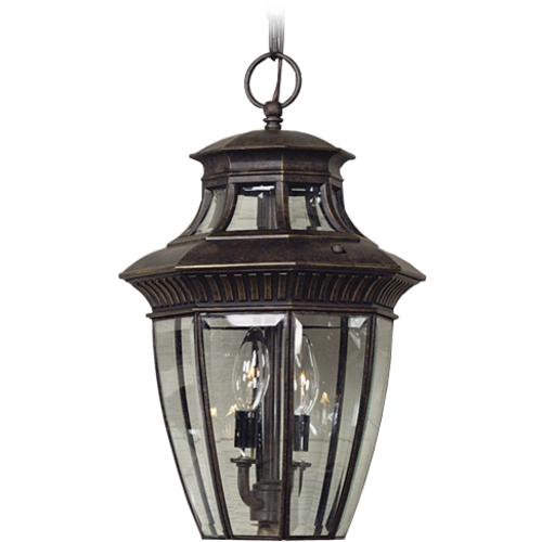 Quoizel Lighting Outdoor Hanging Light with Clear Glass in Imperial Bronze Finish GT1700IB