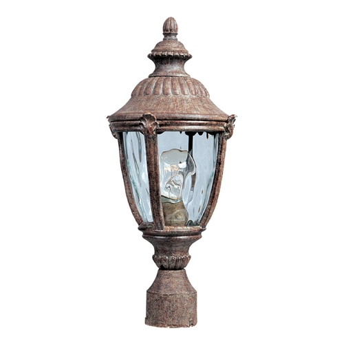 Maxim Lighting Post Light with Clear Glass in Earth Tone Finish 3180WGET