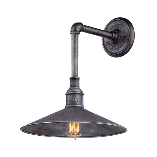 Troy Lighting Outdoor Wall Light in Old Silver Finish B2772