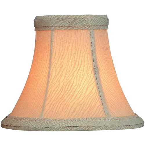 Lite Source Lighting Silver Print Bell Lamp Shade with Clip-On Assembly CH546-6