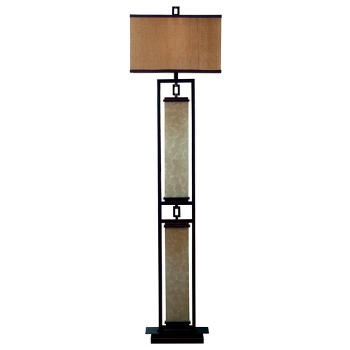 Kenroy Home Lighting Kenroy Home Lighting Plateau Oil Rubbed Bronze Floor Lamp with Drum Shade 30742ORB