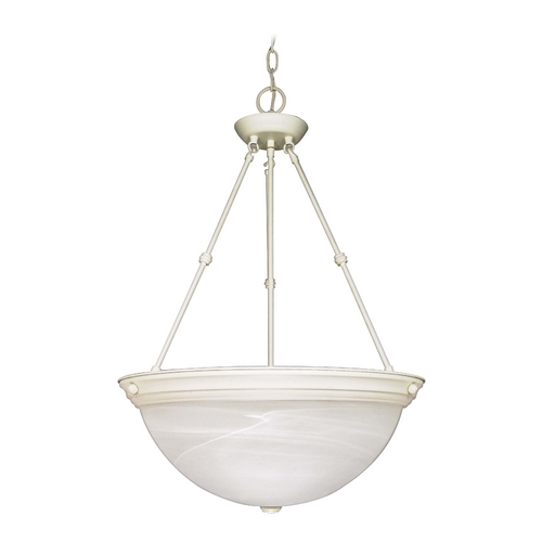 Nuvo Lighting Pendant Light with Alabaster Glass in Textured White Finish 60/228