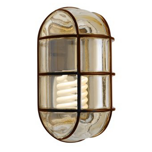 Besa Lighting Outdoor Wall Light with Grey Glass in Bronze Finish 396197-GU24