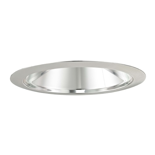 Recesso Lighting by Dolan Designs Recesso Lighting Chrome 6-Inch Cone Recessed Trim T607C-WH