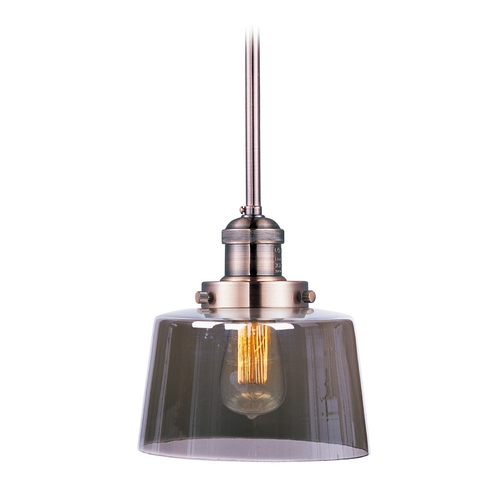 Maxim Lighting Mini-Pendant Light with Clear Glass 25049MSKACP/BUI