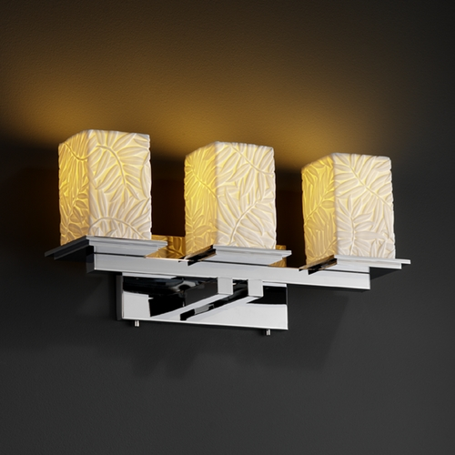 Justice Design Group Justice Design Group Limoges Collection Bathroom Light POR-8673-15-BMBO-CROM