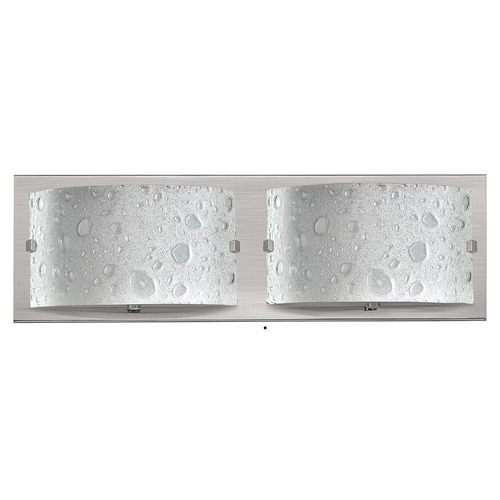 Hinkley Lighting Modern Bathroom Light with Bubble Art Glass in Brushed Nickel Finish 5922BN