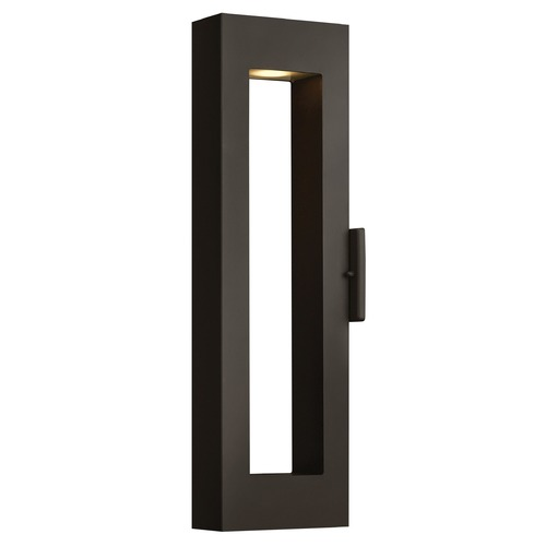 Hinkley Lighting Modern Outdoor Wall Light with Etched in Satin Black Finish 1644SK