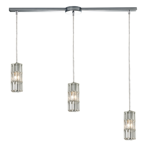 Elk Lighting Crystal Multi-Light Pendant Light 3-Lights 31487/3L