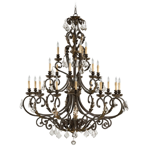 Quorum Lighting Quorum Lighting Rio Salado Toasted Sienna with Mystic Silver Chandelier 6157-21-44