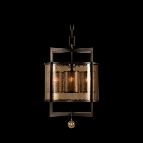 Fine Art Lamps Fine Art Lamps Singapore Moderne Brown Patinated Bronze Pendant Light with Cylindrical Shade 591140ST
