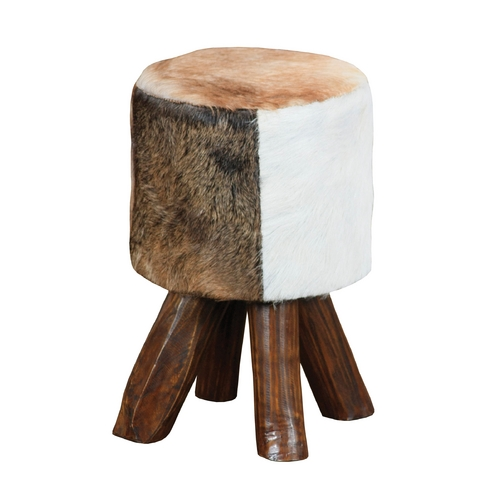 Sterling Lighting Sterling Lighting Cow Hide / Brown Leg Ottoman 6500535