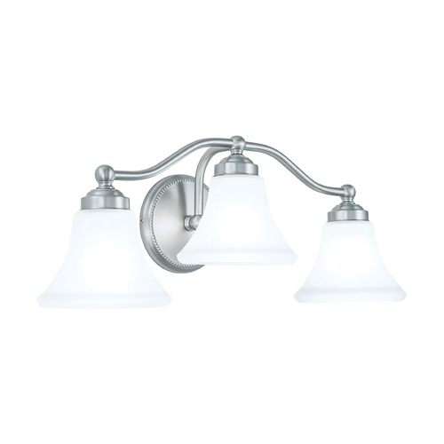 Norwell Lighting Norwell Lighting Soleil Brush Nickel Bathroom Light 9663-BN-FL