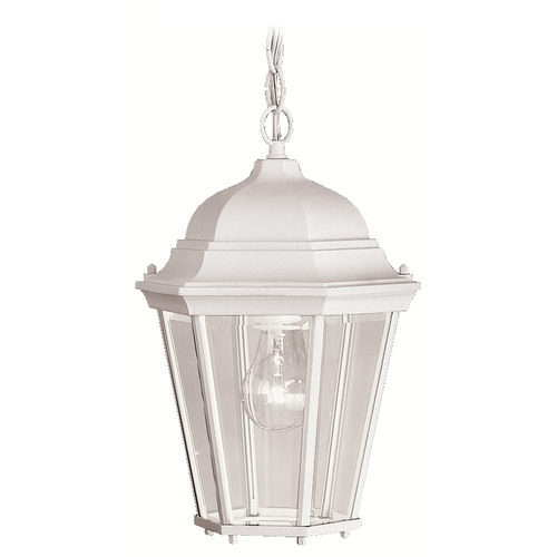 Kichler Lighting Kichler Outdoor Hanging Light with Multi-Colored Glass in White Finish 9805WH