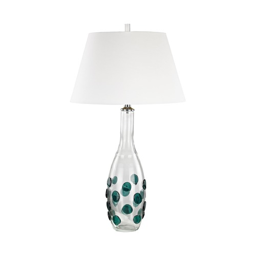Dimond Lighting Dimond Confiserie Clear and Green Table Lamp with Empire Shade D3165