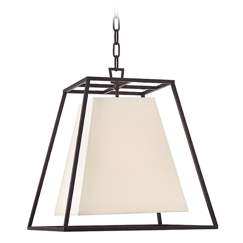 Hudson Valley Lighting Hudson Valley Lighting Kyle Old Bronze Pendant Light with Square Shade 6917-OB-WS