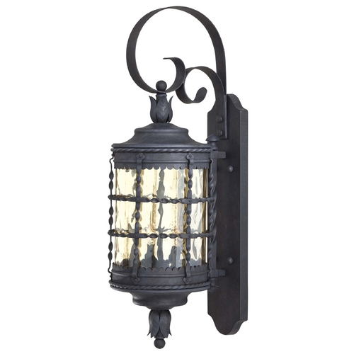 Minka Lavery Outdoor Wall Light with Clear Glass in Spanish Iron Finish 8881-A39