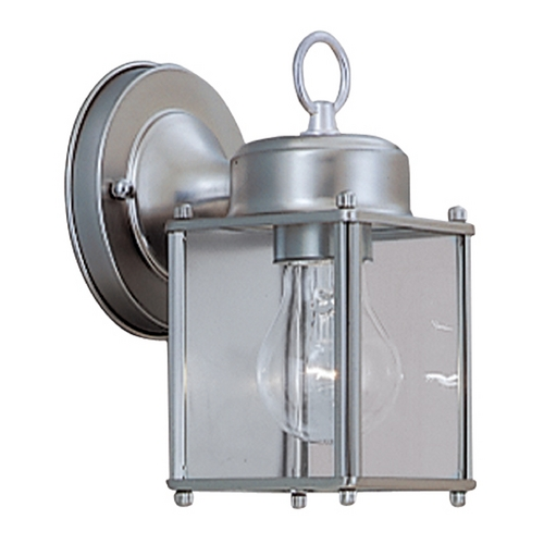 Designers Fountain Lighting Outdoor Wall Light with Clear Glass in Pewter Finish 1161-PW