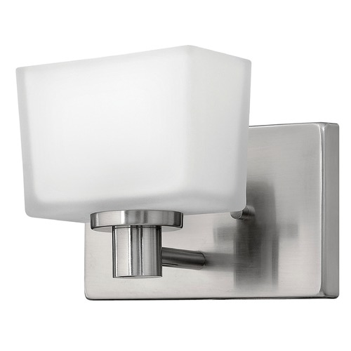 Hinkley Lighting Sconce with White Glass in Brushed Nickel Finish 5020BN