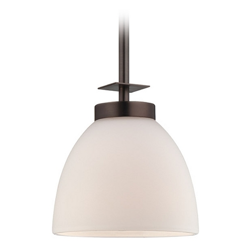 Nuvo Lighting Mini-Pendant Light with White Glass 60/5115