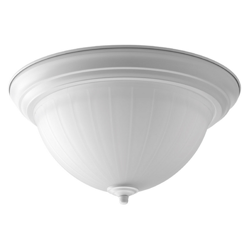 Progress Lighting LED Flushmount Light with White Glass in White Finish P2305-30ET30K
