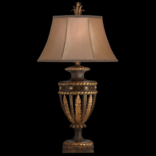 Fine Art Lamps Fine Art Lamps Castile Antiqued Iron with Gold Leaf Table Lamp with Bell Shade 229710ST