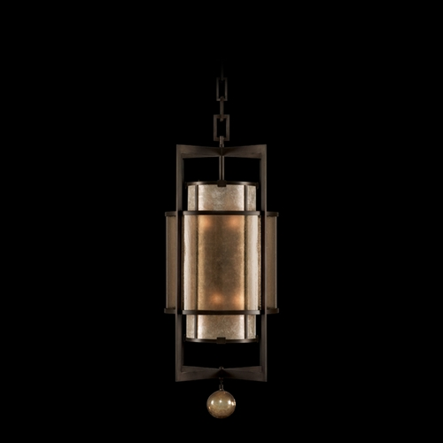 Fine Art Lamps Fine Art Lamps Singapore Moderne Brown Patinated Bronze Pendant Light with Cylindrical Shade 591240ST