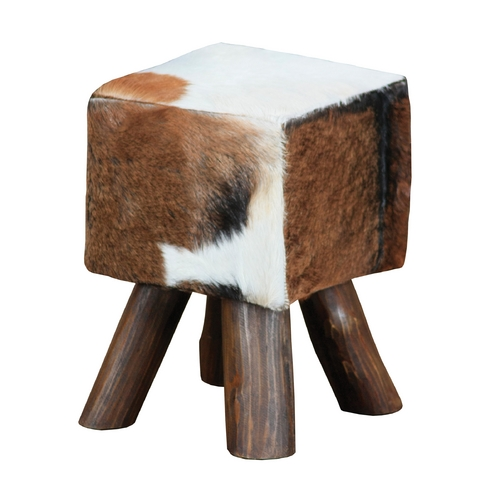 Sterling Lighting Sterling Lighting Cow Hide / Brown Leg Ottoman 6500536