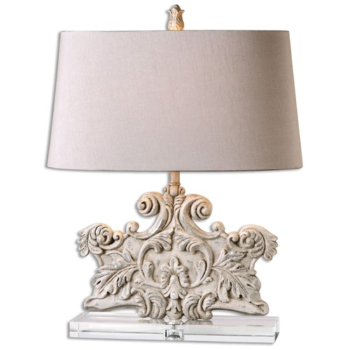 Uttermost Lighting Uttermost Schiavoni Ivory Stone Table Lamp 26658